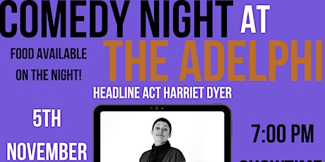 Jack O'Clubs Comedy Night at The Adelphi with Harriet Dyer tickets