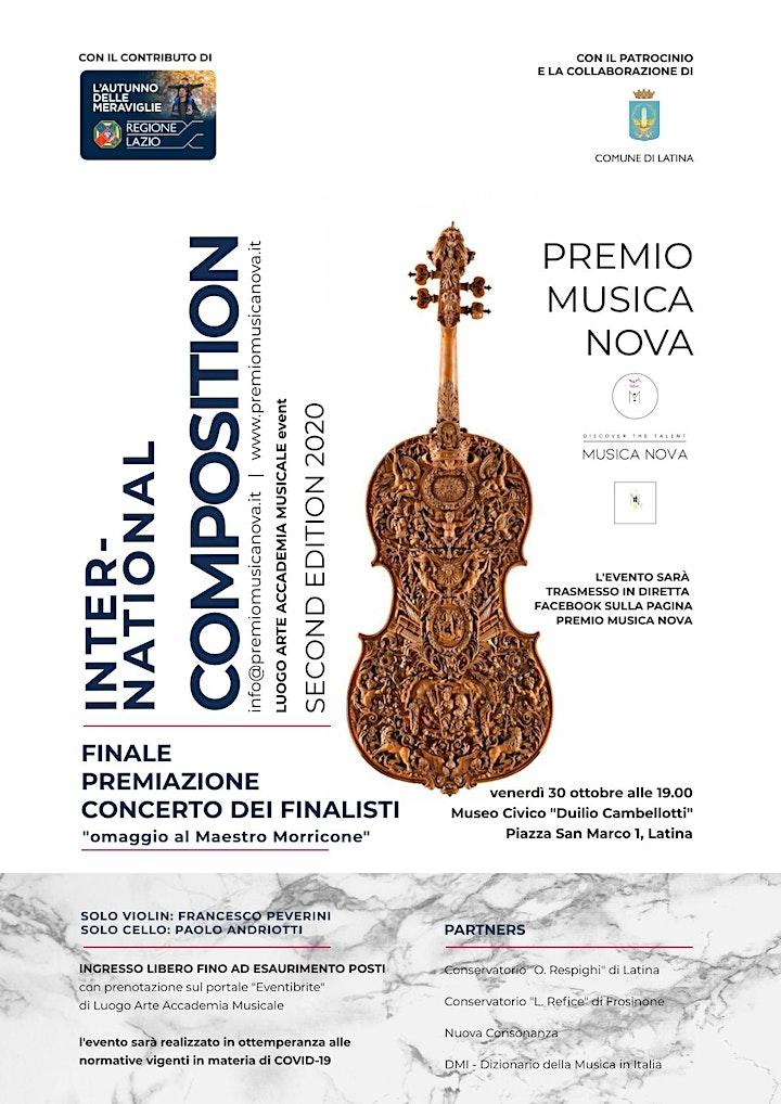 Immagine Finale e Premiazione PREMIO Musica Nova 2020