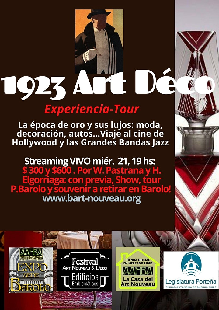 """Imagen de Invitación AANBA a la 1° parte de """"Experiencia1923 Art Déco"""" introducción"""