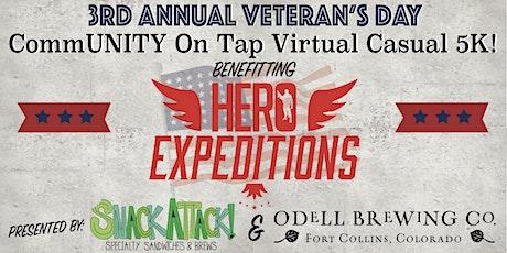 3rd Annual Veteran's Day CommUNITY on Tap Virtual 5K Fundraiser tickets