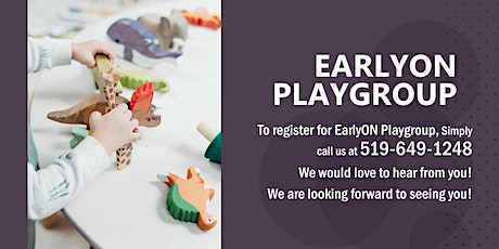 Tuesday PM Indoor EarlyON Playgroup tickets
