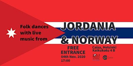 Folk Dances with Live Music: Jordania  & Norway tickets