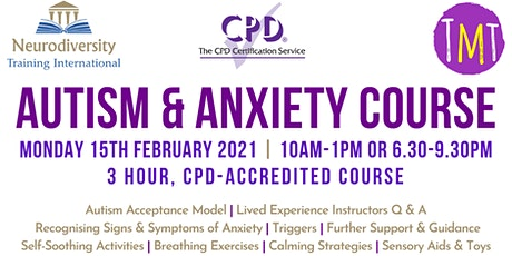 Autism & Anxiety Course (CPD Accredited) tickets