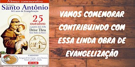 Almoço 165 anos da Paróquia de Santo Antônio ingressos