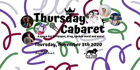 Thursday Cabaret-November 2020 tickets