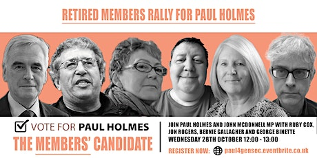 Time for real change - my plan for UNISON: Retired members Rally for Paul tickets