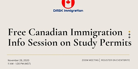 Free Canadian Immigration Info Session on Study Permits tickets