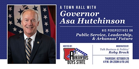 Virtual Town Hall with Gov. Asa Hutchinson on Public Service & Leadership tickets
