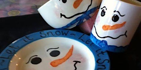 Kids Night  Snowman plate bowl mug tickets