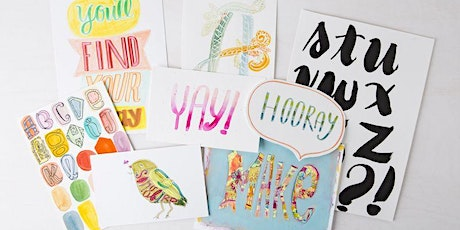 Learn Words And Artistic Lettering and Brush Letters - Virtual Art Class tickets