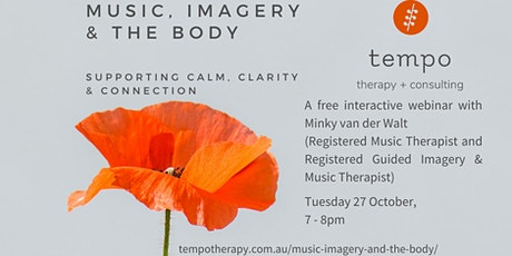 Music, imagery and the body: self support for calm, clarity & connection tickets