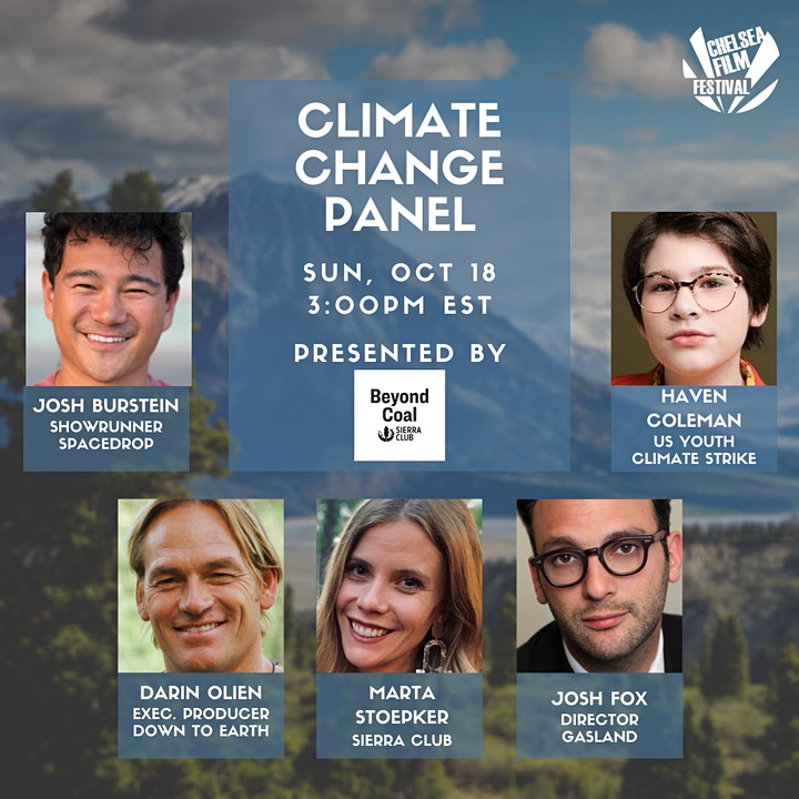 CLIMATE CHANGE PANEL Presented by Sierra Club image