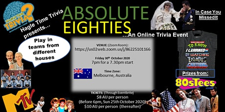 80s Theme Online Trivia tickets
