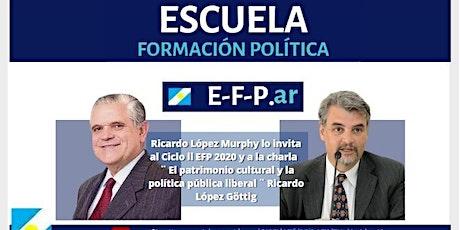 Ricardo López Göttig en EFP. El Patrimonio cultural. Mié/ 21/oct 19:30hs entradas