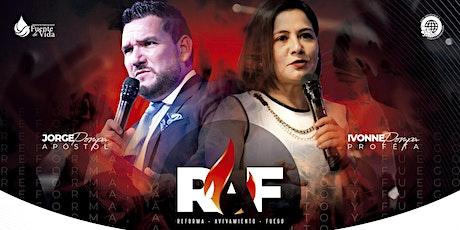 RAF (Reforma, Avivamiento y Fuego) boletos