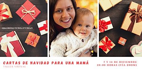 Carta de navidad para una mamá boletos