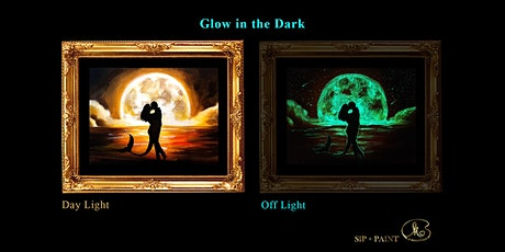 Sip and Paint (Glow in the Dark): Mermaid Love (2pm Saturday) tickets