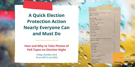 A Quick Election Protection Action Nearly Everyone Can and Must Do tickets