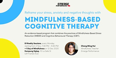 Mindfulness Based Cognitive Therapy : 2 Nov – 21 Dec 2020