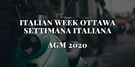 Italian Week Festival AGM (Annual General Meeting) tickets
