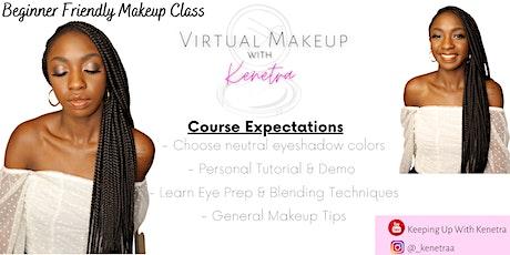 Virtual Makeup Class - Beginner Eyeshadow Tutorial tickets