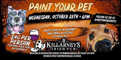 Paint your pet Halloween! tickets