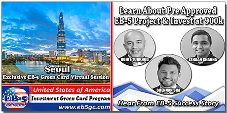 Seoul  EB-5 American Green Card Virtual Market Series tickets