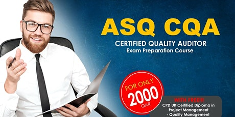 Free ASQ Certified Quality Auditor Webinar Training (DEMO CLASS) tickets