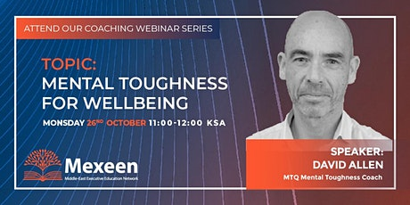 Mental Toughness for Wellbeing tickets
