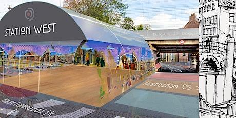 Expo's in nieuw station in centrum van Amsterdam, west van Amsterdam CS tickets