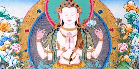 Insegnamenti  sulla pratica di Chenrezig, il Bodhisattva della compassione. biglietti