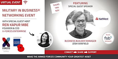 Military in Business Virtual Networking Event- West Midlands and North West tickets