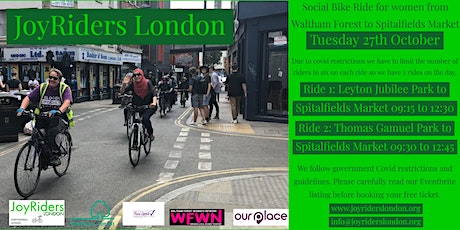Social Bike Ride for Women from Leyton Jubilee Park to Spitalfields Market tickets