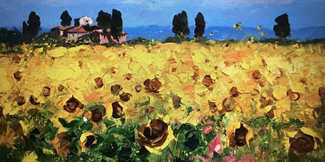 Rose and Renoir - Learn to paint -Sunflowers Tuscany tickets