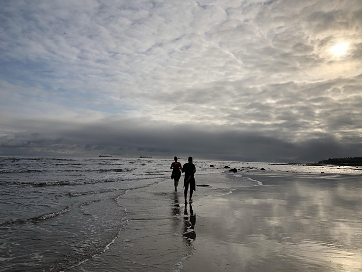 Barefoot beach running club image