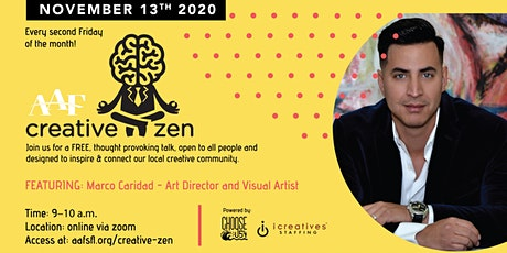 AAF CreativeZen Presents Marco Caridad (November 2 tickets