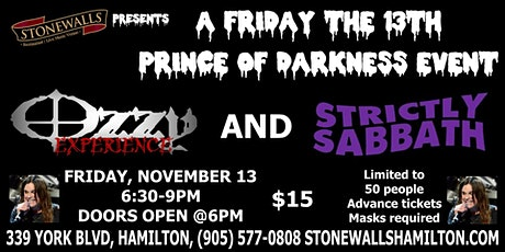 FRIDAY THE 13TH - CELEBRATING THE PRINCE OF DARKNESS, OZZY OSBOURNE tickets