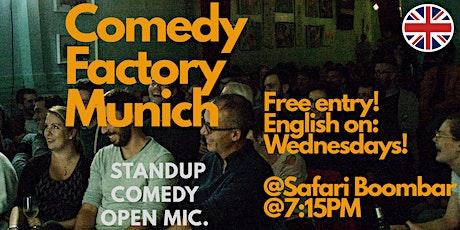 Comedy Factory Munich - English Comedy Open Mic tickets