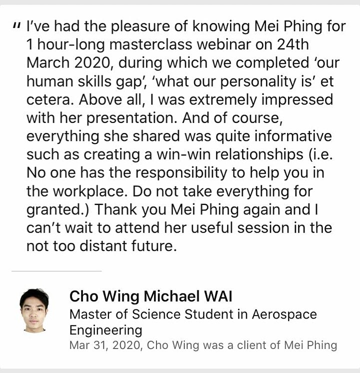 Resume-Writing & Interview Skills Workshop⚡ #GotAPhing by Mei Phing image
