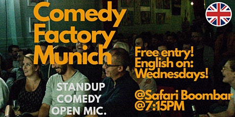 Comedy Factory Munich - English Comedy Open Mic tickets