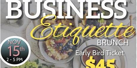 Business Etiquette Brunch tickets