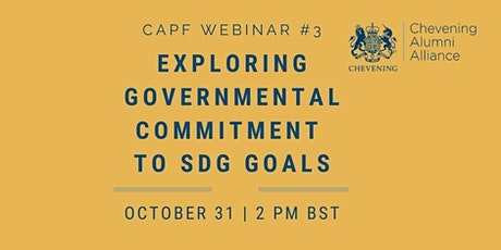 EXPLORING GOVERNMENTAL COMMITMENT TO SDG GOALS tickets