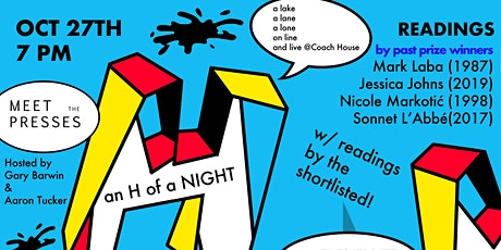 H of a Night Online - Meet the Presses and bpNichol Shortlist Announcement tickets
