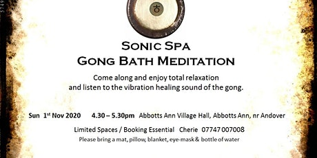 Sonic Spa Gong Bath Meditation - 1st November 2020 tickets