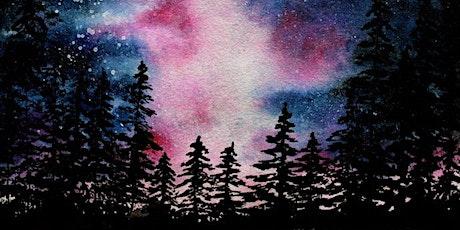 In Studio Watercolour Starry Night - Paint Night tickets