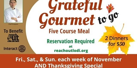 Grateful Gourmet Family of 4  Thanksgiving Special tickets