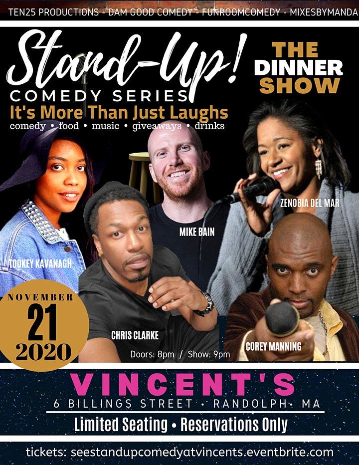 STAND-UP! COMEDY SERIES presents THE DINNER SHOW image