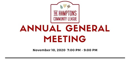 The Hamptons Community League Annual General Meeting tickets