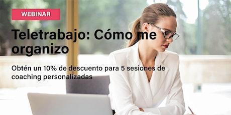 Webinar sobre el Teletrabajo: ¿Cómo me organizo? entradas