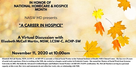 A CAREER IN HOSPICE tickets